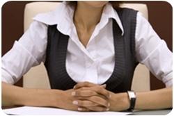 Пример строгой офисной одежды для женщины