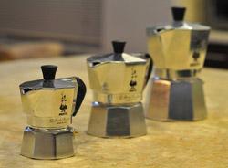 Три гейзерных кофеварки