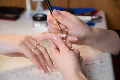 Как выглядят акриловые краски для ногтей 66